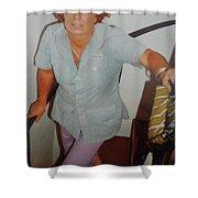 Life Traveller Mum Chris  Shower Curtain