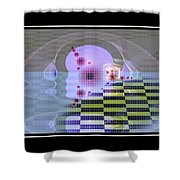 Lifeforms Shower Curtain by Peter R Nicholls