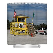 Lifeguard And Beachpatrol Shower Curtain