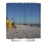 Lifeguard On Siesta Key Shower Curtain
