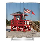 Lifeguard Siesta Beach Shower Curtain