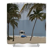 Lifeguard Station Abstract Shower Curtain