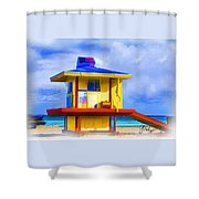Lifeguard Station Shower Curtain