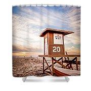 Lifeguard Tower 20 Newport Beach Ca Picture Shower Curtain