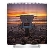 Lifeguard Tower At Dusk Shower Curtain