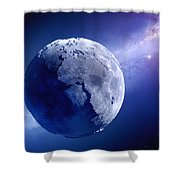 Lifeless Earth Shower Curtain