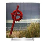 Lifesaver On The Beach Shower Curtain