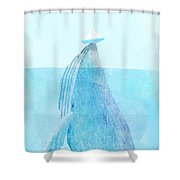Lift Shower Curtain by Eric Fan