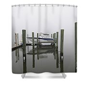 Lifted Up Into The Fog Shower Curtain
