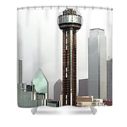Lifting Fog On Dallas Texas Shower Curtain