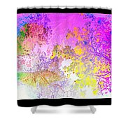 Uplifting The Trees Into The High Pink Sky   Shower Curtain