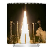 Liftoff Of Vega Vv06 With Lisa Shower Curtain