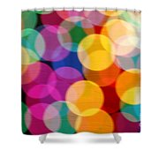 Light Abstract Shower Curtain