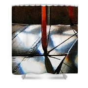 Light Across The Wings Shower Curtain