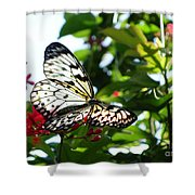 Light And Butterfly Shower Curtain
