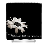 Light And Dark Inspirational Shower Curtain