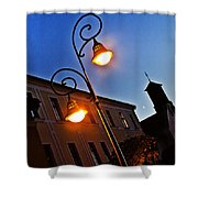 Light And Moon In B.bystrica Shower Curtain