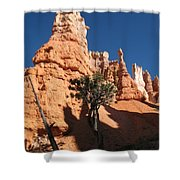 Light And Shadow In The Bryce Canyon  Shower Curtain