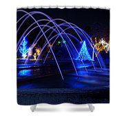 Light And Water In Motion Shower Curtain