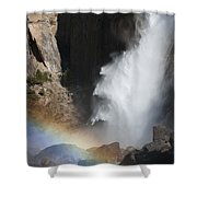 Light And Water - Yosemite Falls Shower Curtain