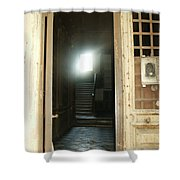 Light At End Of Tunnel Shower Curtain