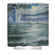 Light At Sea Shower Curtain