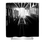 Light At The End Of The Tunnel. Shower Curtain