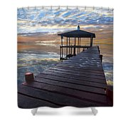 Light At The Lake Shower Curtain