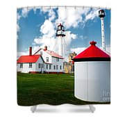 Light At Whitefish Point Shower Curtain