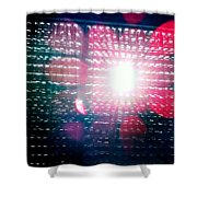 Light Beams Shower Curtain