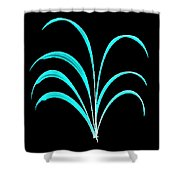 Light Blue Floral Creation Shower Curtain