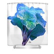 Light Blue Iris Shower Curtain