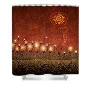 Light Bulb God Shower Curtain by Gianfranco Weiss