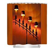 Light Cascade Shower Curtain