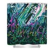 Light Dancing In The Shadows Shower Curtain
