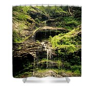 light flow at Cathedral Falls Shower Curtain