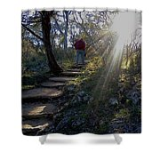 Light For The Path Shower Curtain