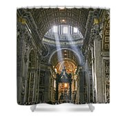 Light From Above Shower Curtain