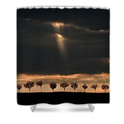 Light From The Sky Shower Curtain