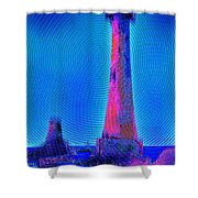 Light House At Sunrise 2 Shower Curtain