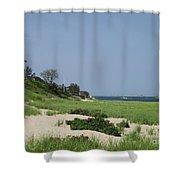 Light House Beach Shower Curtain