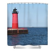 Light House Lake Michigan Shower Curtain
