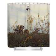 Light House Landscape Shower Curtain