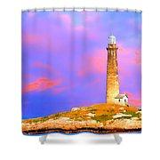 Light House Onthatcher Island Shower Curtain