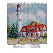 Light House, Wisconsin  Shower Curtain