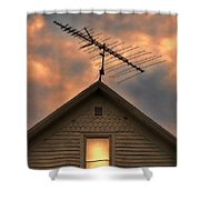 Light In Attic Window Shower Curtain