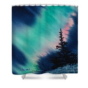 Light In Dark Of Night Square Shower Curtain
