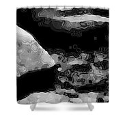 Light In The Stream Bw Shower Curtain