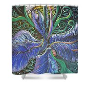 Light Into The Bloom Shower Curtain