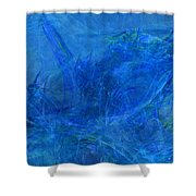 Light It Up Blue Shower Curtain